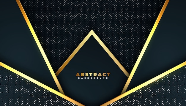 Dark abstract background with overlap layers. Premium Vector