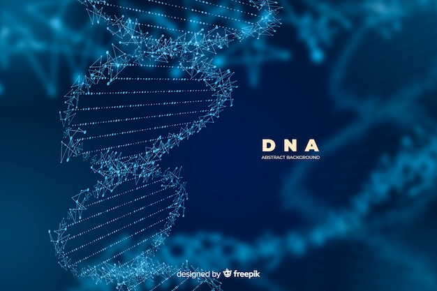 Dark abstract dna structure background Free Vector