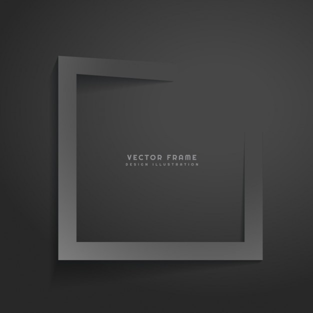 dark abstract frame Free Vector