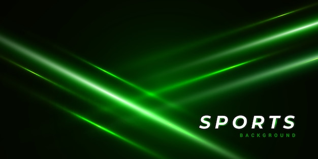 Dark abstract green background with light ray Premium Vector