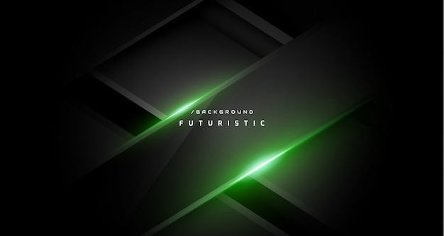Dark abstract green gaming background Premium Vector
