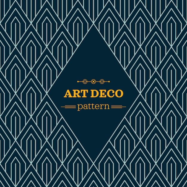 Dark art deco pattern Vector | Free Download