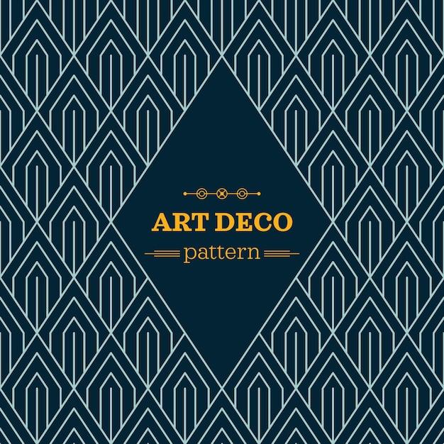 Art Deco Patterns: Dark Art Deco Pattern Vector