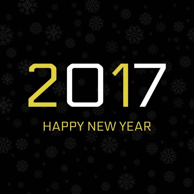 Dark background of happy new year 2017 Vector | Free Download