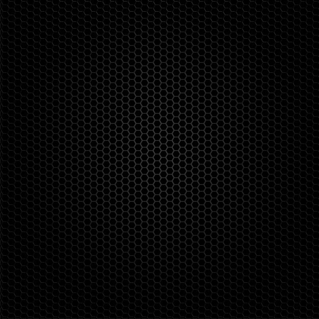 Dark background of hexagonal shapes Free Vector