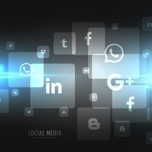 Dark background of social media icons Vector | Free Download