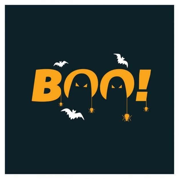 박쥐와 유령과 어두운 배경 무료 벡터