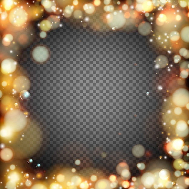 Dark background with bokeh effect Free Vector