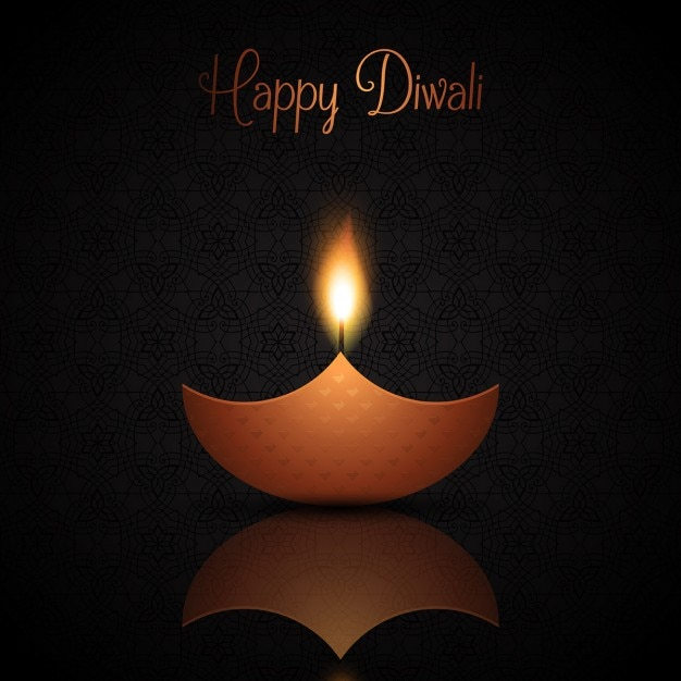 Dark Background With Candles For Diwali Vector Free Download