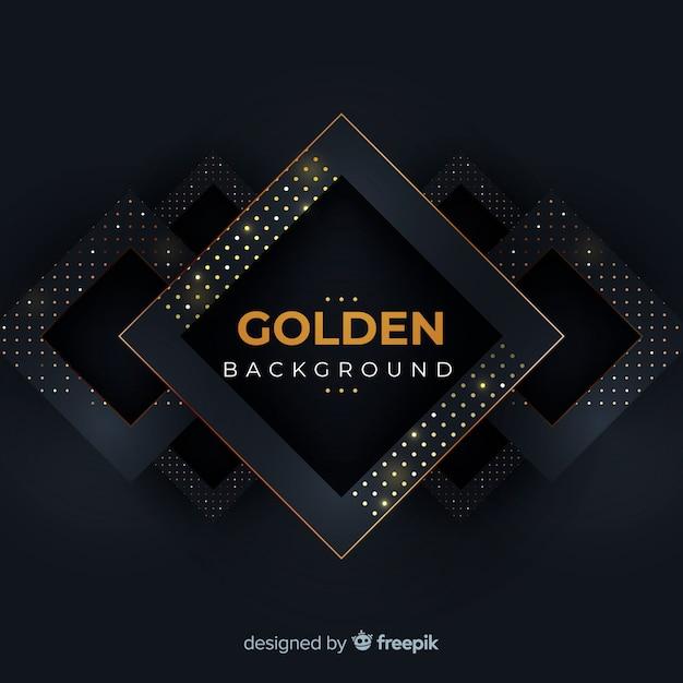 Dark background with golden halftone effect Free Vector