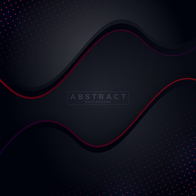 Dark Background With Red Abstract Color Background Vector