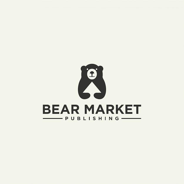 Темный медведь логотип Premium векторы