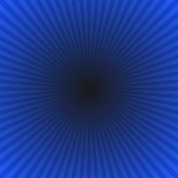 Dark blue abstract gradient ray burst background - hypnotic vector graphic from radial rays Premium Vector
