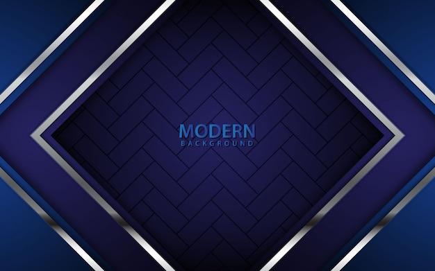 Dark blue abstract realistic background Premium Vector