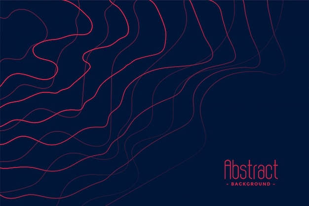 Dark blue background with abstract pink lines Free Vector