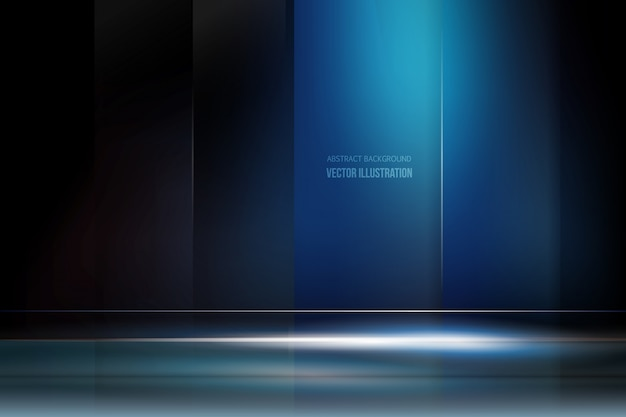 Dark blue background with light Vector | Free Download