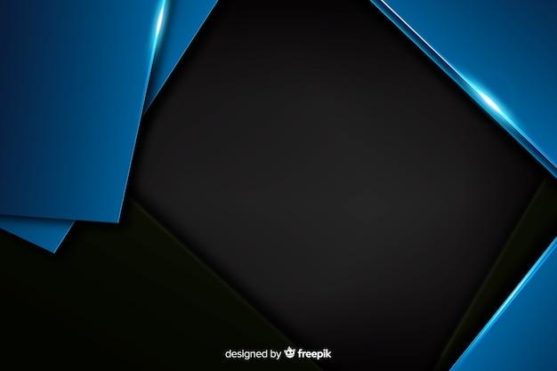 Темно-синий фон с эффектом металлик Бесплатные векторы