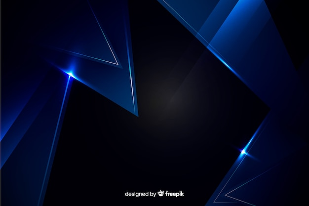 Dark blue background with metallic effect Free Vector