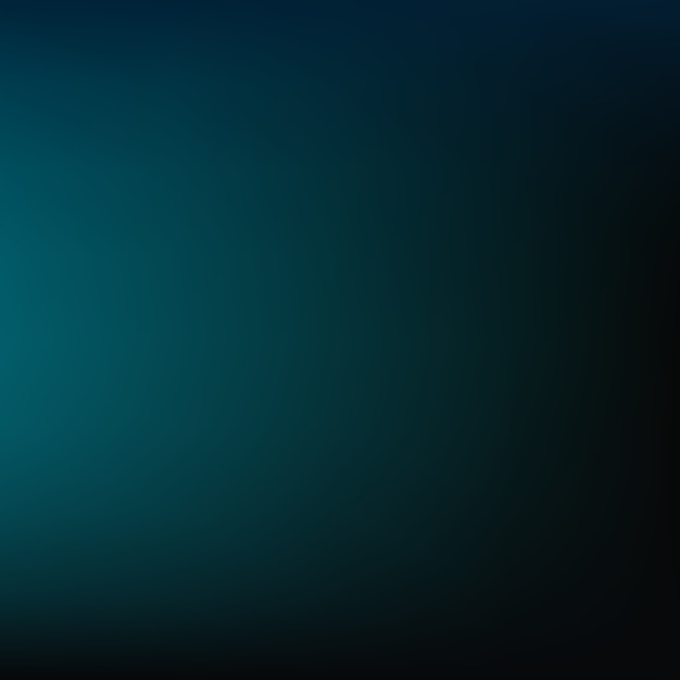 Bluish Green Color Dark blue blurred back...