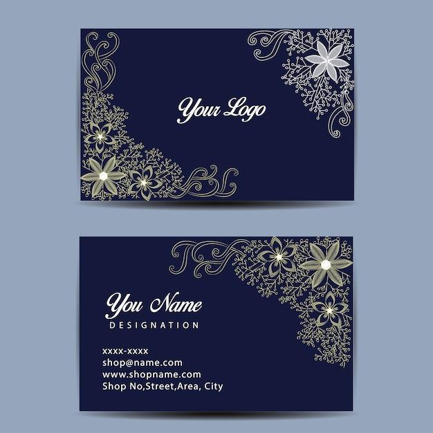 Dark blue business card template vector free download dark blue business card template free vector reheart Choice Image