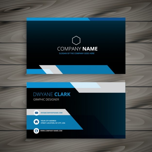 dark blue business card vector free download