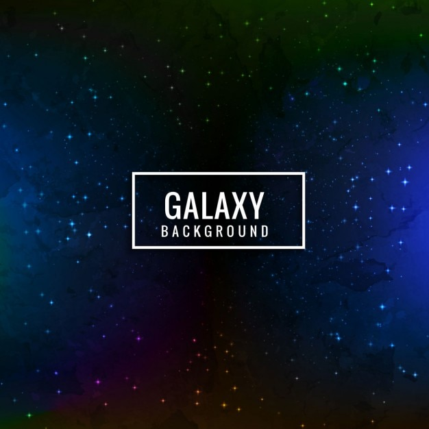 Dark Blue Galaxy Background Free Vector