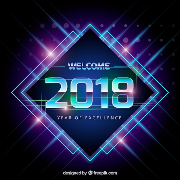 Dark blue new year background Free Vector