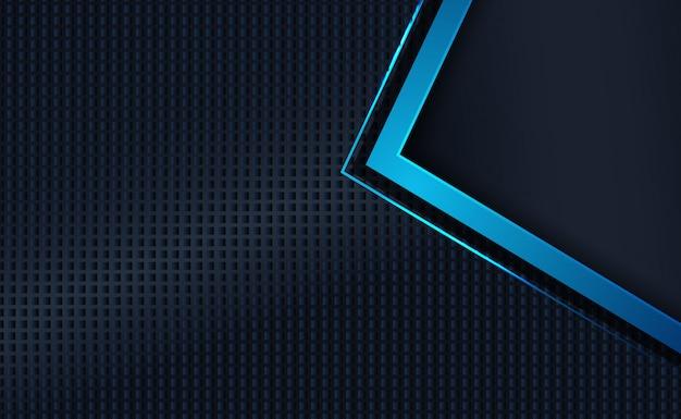 Dark blue overlap layers element. abstract modern background texture. Premium Vector