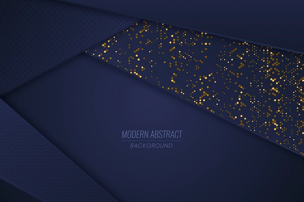 Dark Blue Paper Layers Wallpaper With Golden Details Vector