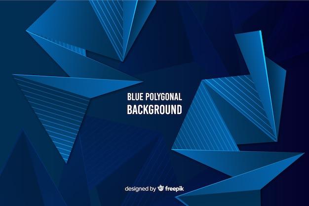 Dark blue polygonal background Free Vector