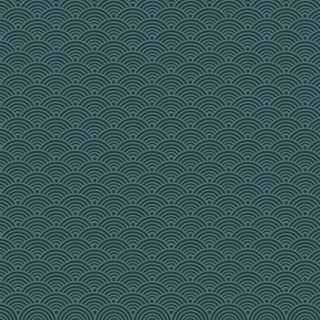 ダークブルースケールのシームレスパターン Premiumベクター