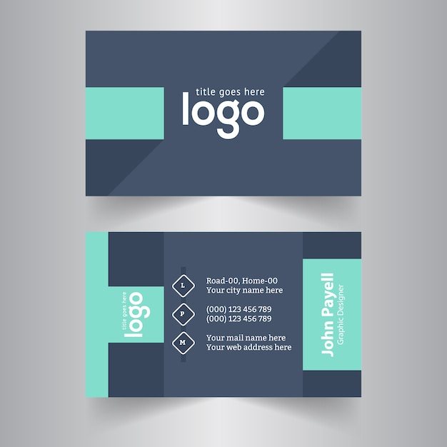 Dark business card design vector premium download dark business card design premium vector colourmoves