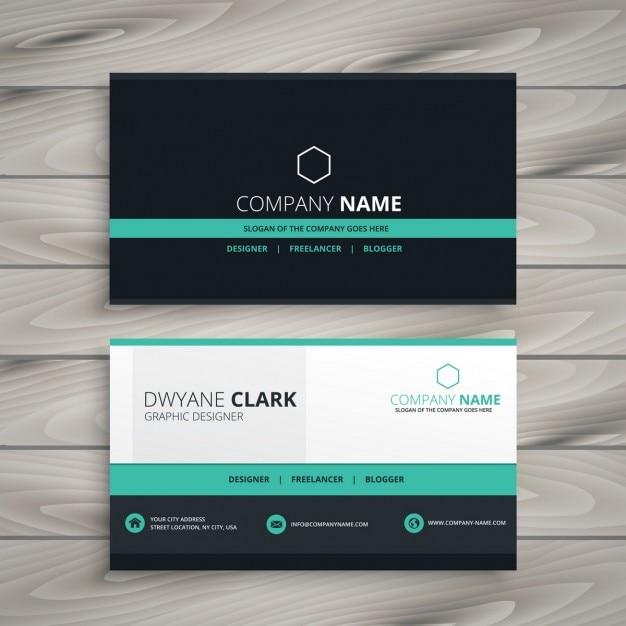Dark Business Card In Modern Design Vector