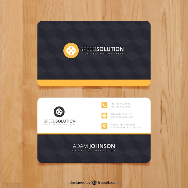 Dark business card template vector free download dark business card template free vector fbccfo Image collections