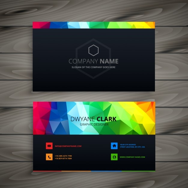 Dark business card with abstract shapes vector free download dark business card with abstract shapes free vector colourmoves