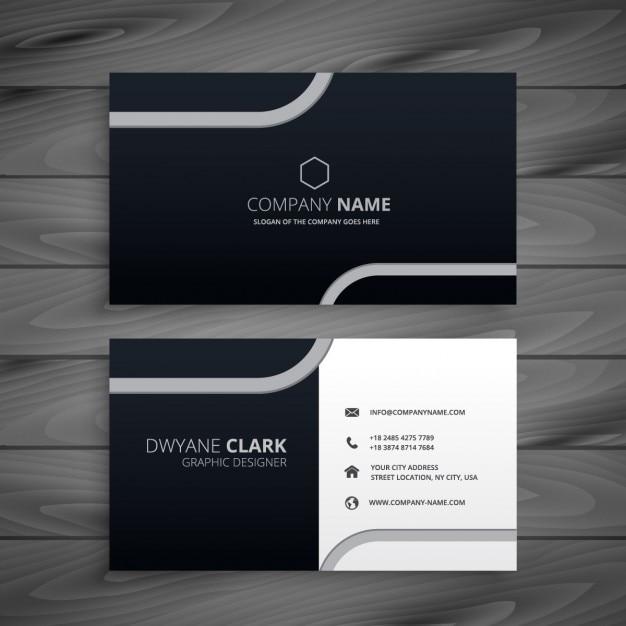 Dark business card vector free download dark business card free vector reheart Choice Image
