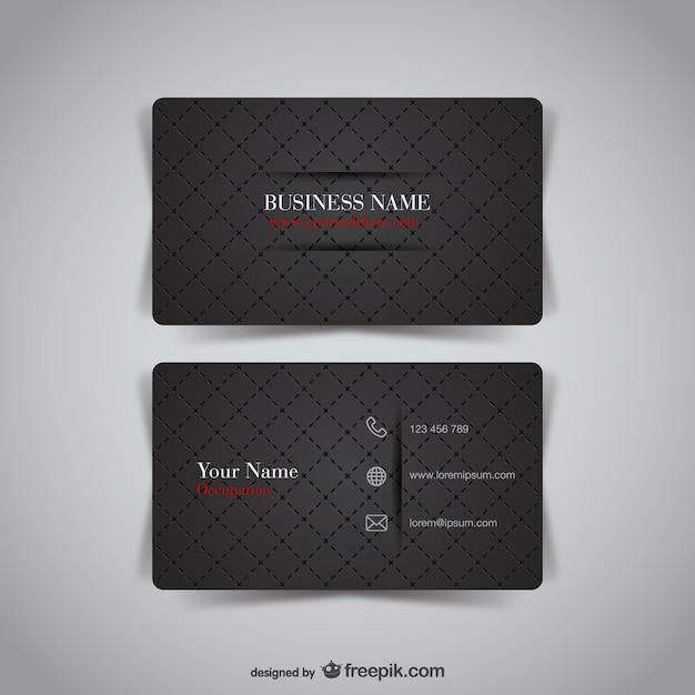 Dark business card vector free download dark business card free vector colourmoves Choice Image