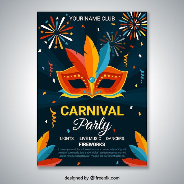 dark carnival party poster template vector free download