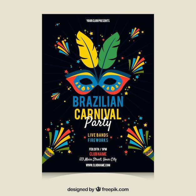 dark carnival poster template vector free download