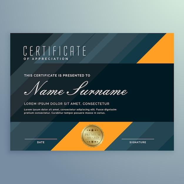Dark certificate of appreciation template design vector vector dark certificate of appreciation template design vector premium vector yadclub Image collections