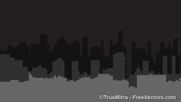 Dark city building shapes Vector | Free Download