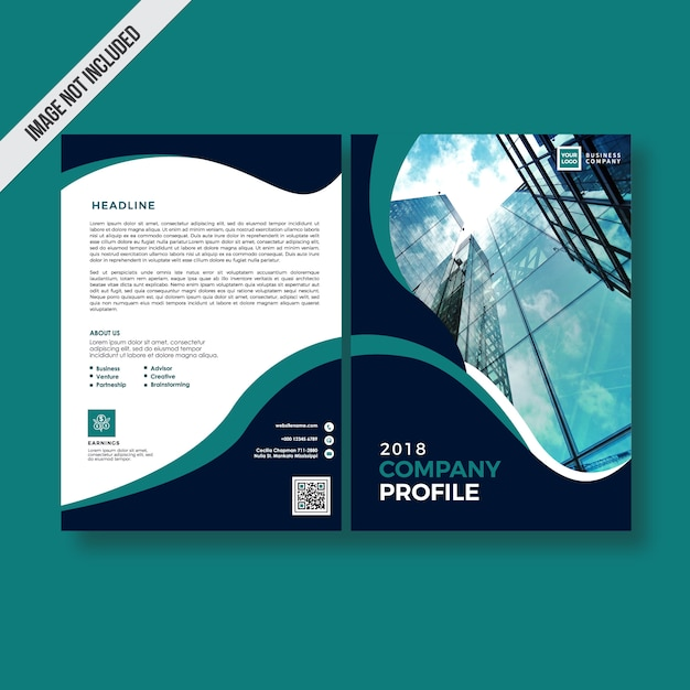 Dark color style company profile design Vector | Premium Download