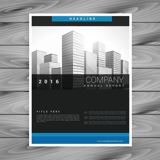 Dark company brochure style template in modern style