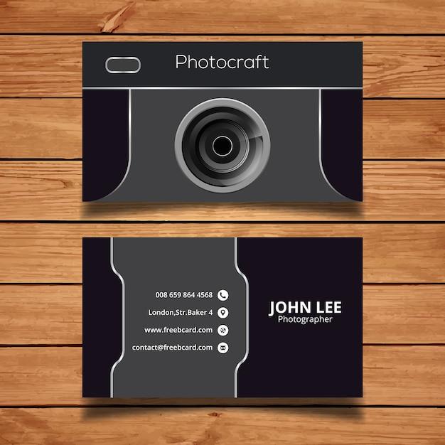 Dark corporate card, photography Free Vector
