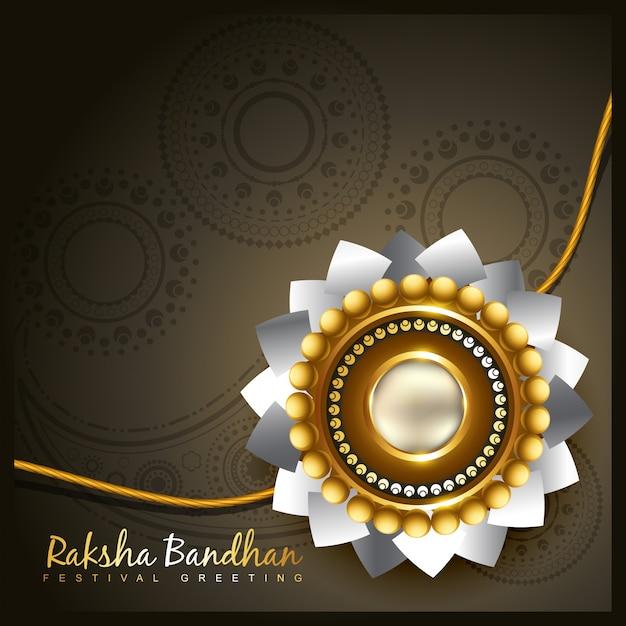 Dark design for raksha bandhan Free Vector