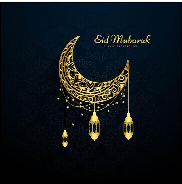 Dark eid mubarak background