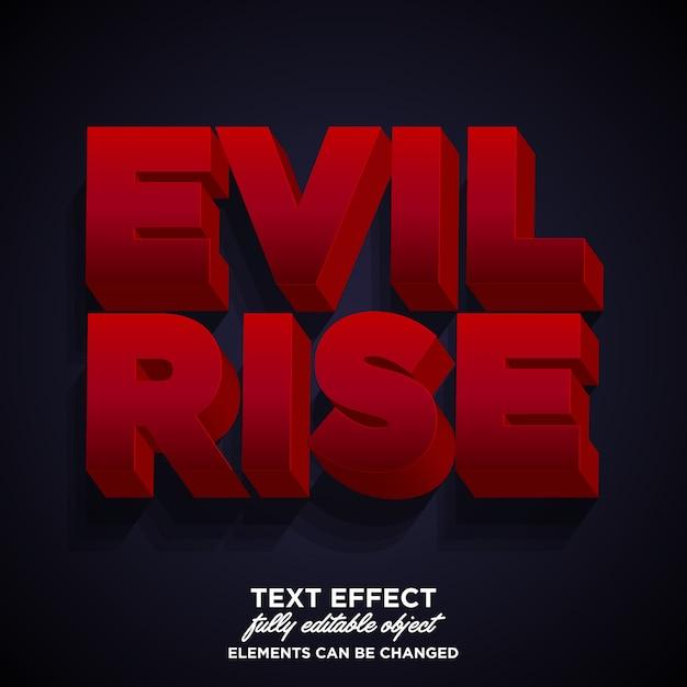 Dark evil 3dフォント効果 Premiumベクター
