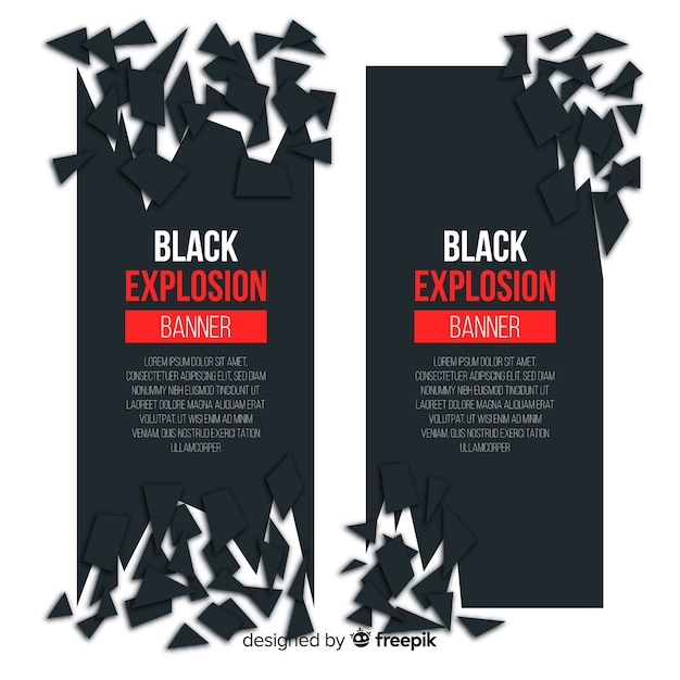 Dark explosion banner collection Free Vector