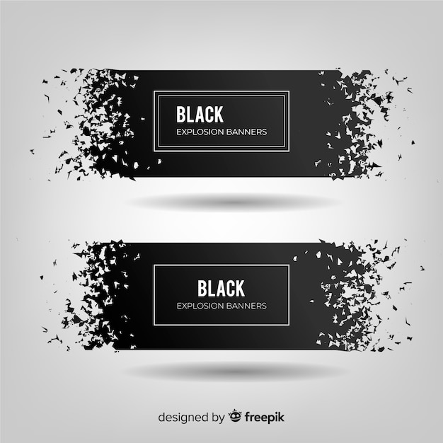 Dark explosion banner collection Free Vector