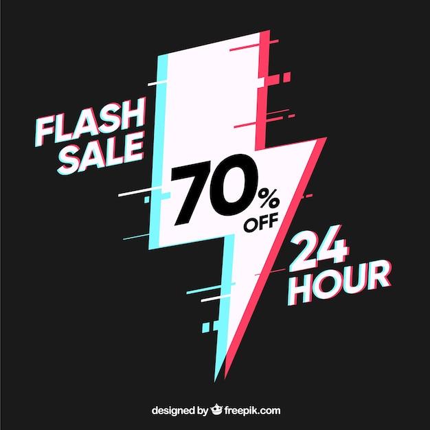 Dark flash sale background Free Vector
